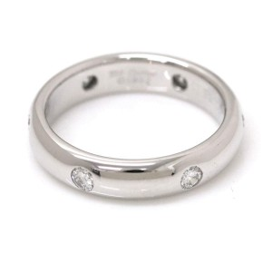 Cartier Stella 18K White Gold with 3P Diamond Ring Size 4