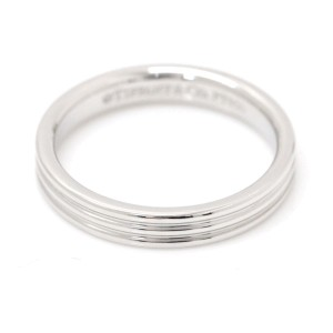 Tiffany & Co. 950 Platinum Three Row Band Ring Size 4.5