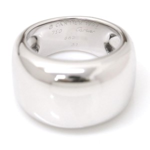 Cartier Nouvelle 18K White Gold Vague Ring Size 6