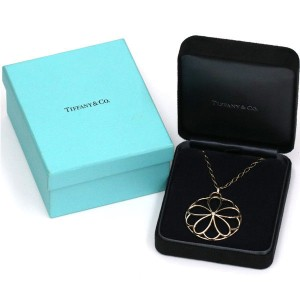 Tiffany & Co. 18K Rose Gold with Diamond Flower Necklace