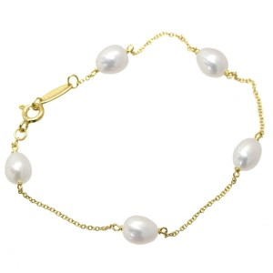 Tiffany & Co. 18K Yellow Gold with Cultured Pearl Bracelet