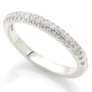 Chanel Comete 18K White Gold and Diamond Ring Size 10.5