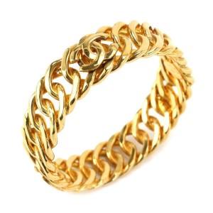 Chanel CoCo Mark Gold Tone Hardwar Bangle Cuff Bracelet