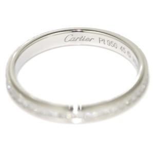 Cartier Damorour 950 Platinum with Diamond Ring Size 3.25