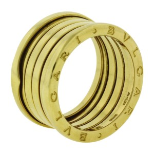 Bulgari B.Zero 1 18K Yellow Gold 5 Band Ring Size 8.5