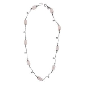 Tiffany & Co. 925 Sterling Silver with Rose Quartz Necklace