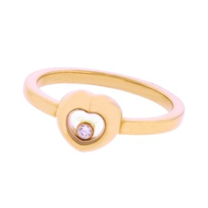 Chopard 18K Rose Gold Diamond Ring Size 6