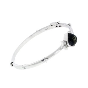 Stephen Webster 925 Sterling Silver & Crystal Haze Superstud Bangle Bracelet