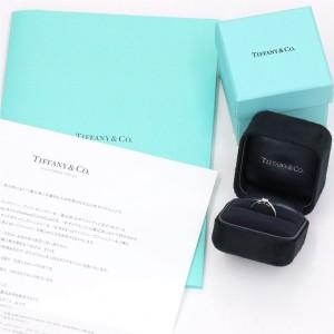 Tiffany & Co. 950 Platinum & 0.39ct Diamond Harmony Ring Size 6
