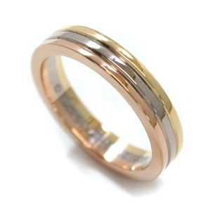 Cartier Trinity 18K Yellow, White & Rose Gold Ring Size 4.5