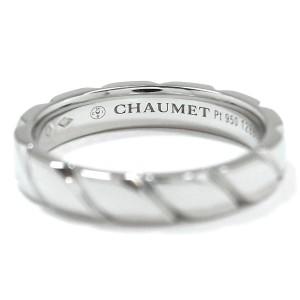 Chaumet 950 Platinum Torsade Ring Size 8.5