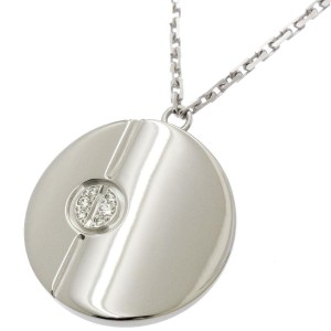 Cartier Love 18K White Gold & Diamond Pendant Necklace