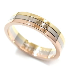 Cartier Trinity 18K Yellow White & Rose Gold Ring Size Size 8.75