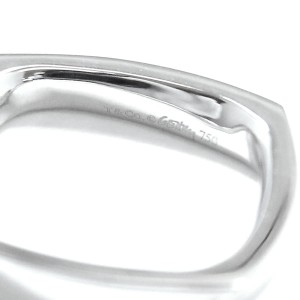 Tiffany & Co. 18K White Gold Frank Gary Torque Ring Size 5.5