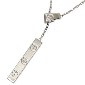 Cartier Love Necklace 18K White Gold with Diamond