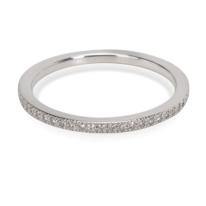 Tiffany & Co. PT950 Platinum with 0.20ct Diamond Metro Ring Size 6