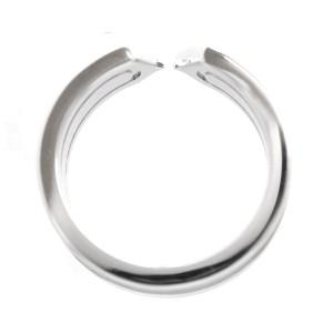 Cartier 18K White Gold 2C Logo Ring Size 4