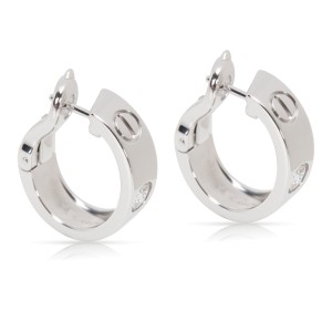 Cartier Love Earrings 18k White Gold With 0 20ct Diamond