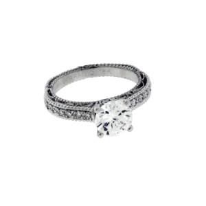 Verragio 18K White Gold Diamond Engagement Ring Size 6