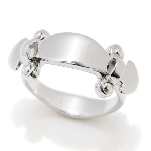 Louis Vuitton 18K White Gold Stand By Me Ring Size 4