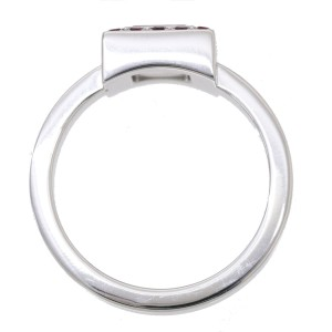 Chopard Happy Diamond 18K White Gold Ruby Ring Size 9
