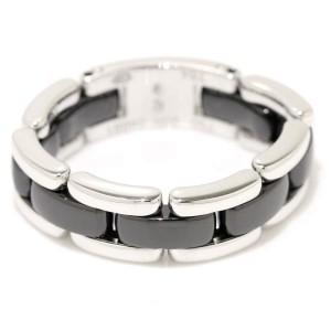 Chanel Ultra 18K White Gold Ceramic Ring Size 11.5