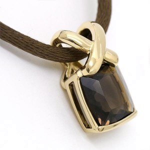 Chaumet Liens Smoky Quartz Necklace 18K Yellow Gold