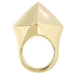 Tiffany & Co. 18K Yellow Gold Pyramid Ring Size 6