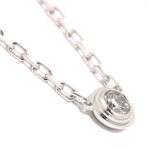 Cartier Diamants Legers Necklace 18K White Gold 0.09ct Diamond