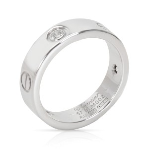 Cartier Love Ring 18K White Gold Diamond Size 8