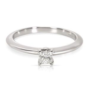 Tiffany & Co. Princess Cut 0.19ct Diamond Platinum Engagement Ring Size 5.5