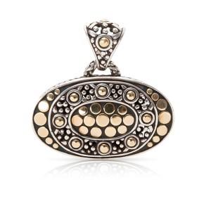 John Hardy Jaisalmer Pendant in 22k Yellow Gold & Sterling Silver
