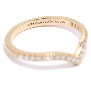 Tiffany & Co. Soleste V 18K Rose Gold 0.17ctw. Diamond Ring Size 5.5