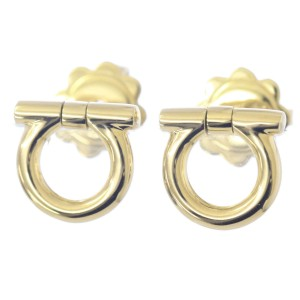 Salvatore Ferragamo Gancini Earrings 18k Yellow Gold