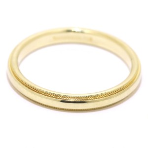 Tiffany & Co. Milgrain 18K Yellow Gold Ring Size 10