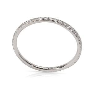 Tiffany & Co. Metro 18K White Gold Diamond Ring Size 4.5