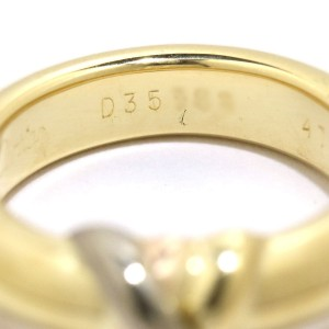 Cartier Trinity Ring 18K Yellow White & Rose Gold Size 4