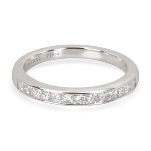 Tiffany & Co. Platinum Diamond Wedding Ring Size 4.5