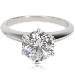 Tiffany & Co. Platinum Diamond Engagement Ring Size 6
