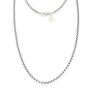 David Yurman Box Chain Sterling Silver Necklace