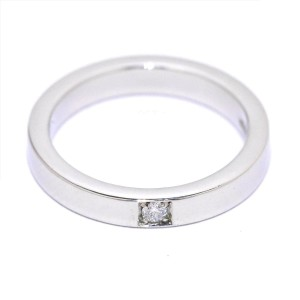 Bulgari 950 Platinum 0.03ct Diamond MarryMe Ring Size 5