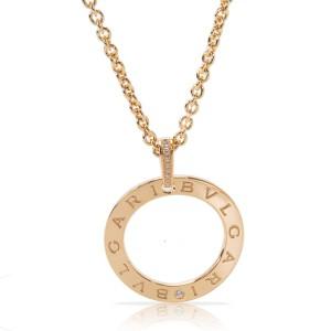 Bulgari 18K Yellow Gold Diamond Necklace