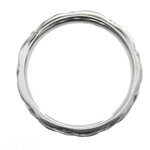Chanel Matelasse Platinum Ring Size 4