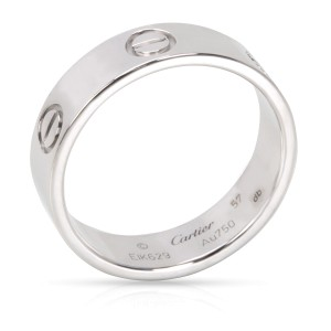 Cartier Love Ring 18K White Gold Size 8