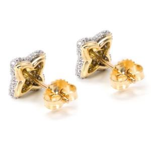 David Yurman 18K Yellow Gold Diamond Earrings