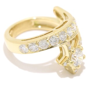 Chanel Comete 18K Yellow Gold and Diamond Ring Size 6.5