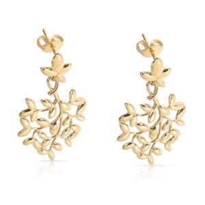 Tiffany & Co. Olive Leaf 18K Yellow Gold Earrings