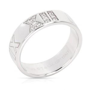 Tiffany & Co. Atlas 18K White Gold Diamond Rings Size 5