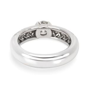 Tiffany & Co. Semi-Bezel Diamond Platinum Ring Size 5