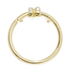 Chaumet 18K Yellow Gold Diamond Ring Size 8
